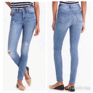 J. Crew Factory High Rise Distressed Skinny Jeans